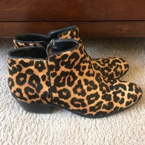 Leopard Pony Hair Booties by Sam Edelman